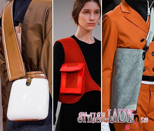 Модные сумки на ремне осень - зима 2015 - 2016, фото