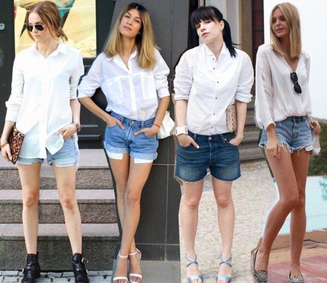Белая рубашка — незаменимая вещь каждой леди!