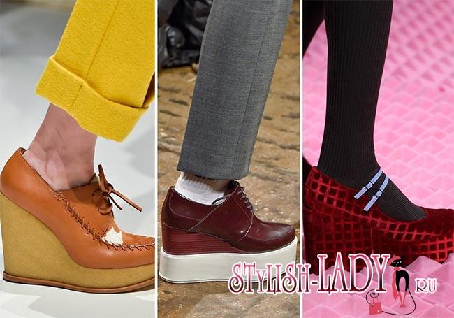 Фото модной обуви на высокой платформе осень - зима 2015 - 2016