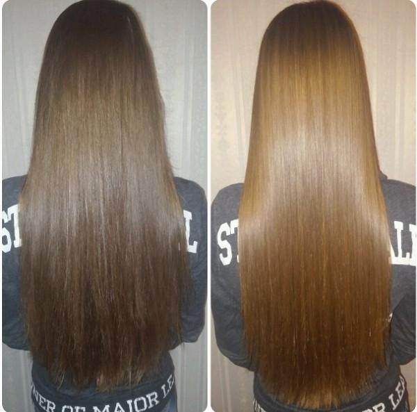 кератин для волос, фото