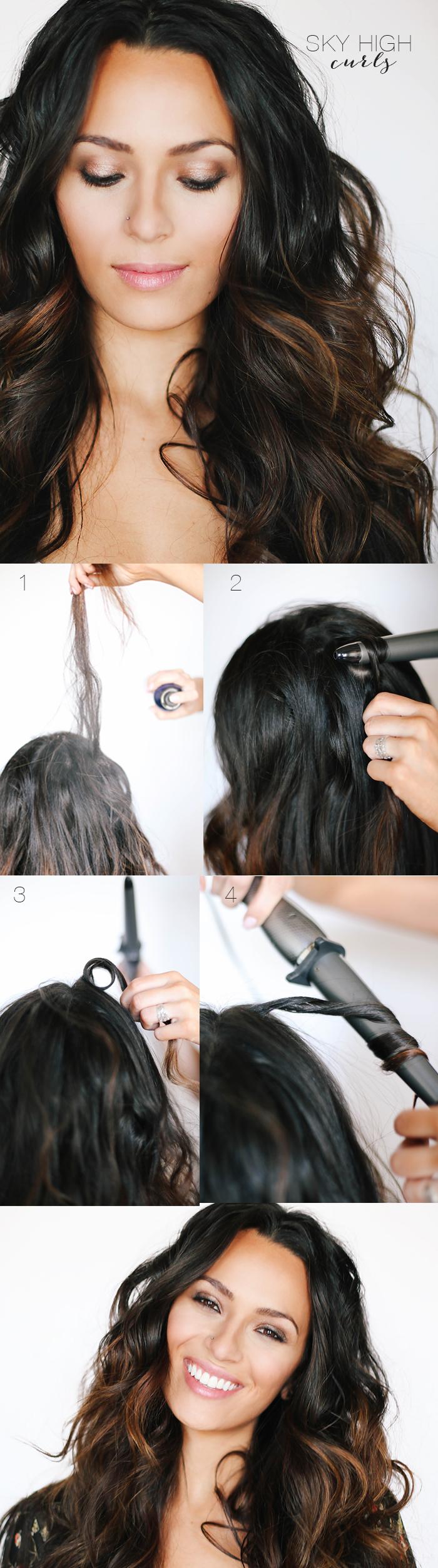 как накрутить волосы щипцами, фото
