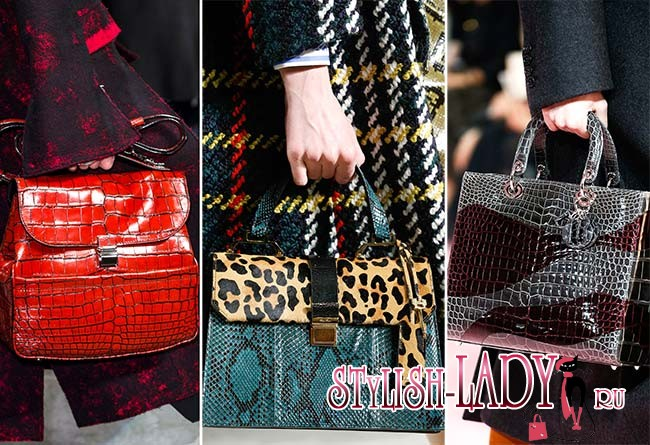 Модные сумки из кожи рептилий осень - зима 2015 - 2016, фото