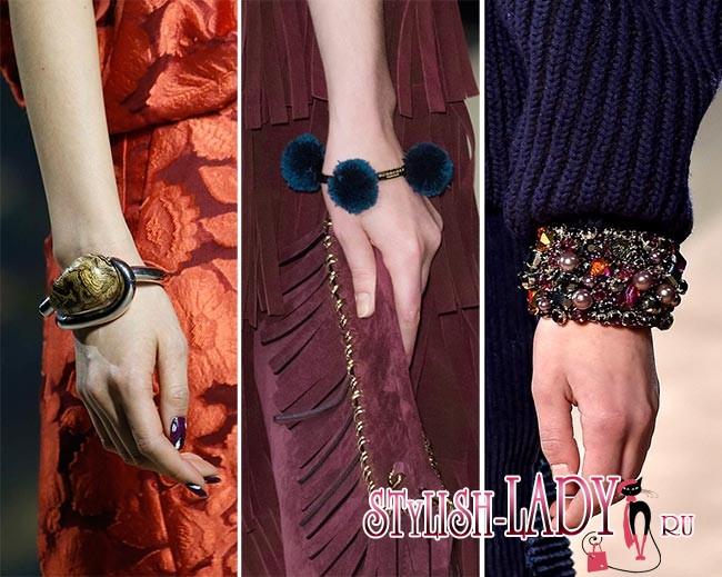 модные браслеты осень - зима 2015 - 2016, фото