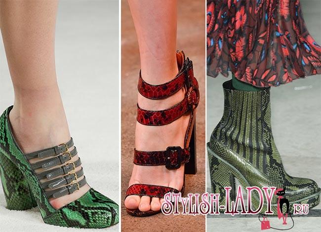 Фото модной обуви из кожи рептилий осень - зима 2015 - 2016
