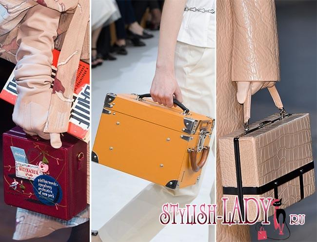 Модные кубические сумки осень - зима 2015 - 2016, фото