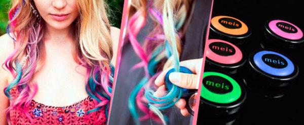 Окрашивание волос мелками, фото