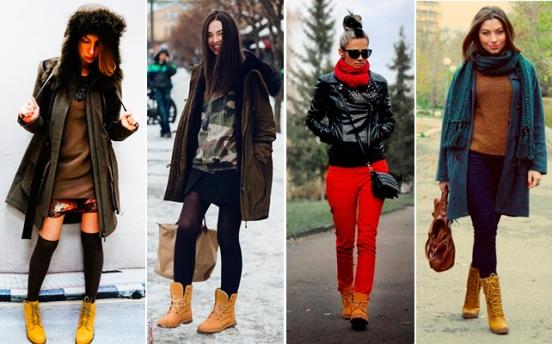 с чем носить тимберленды девушкам, фото