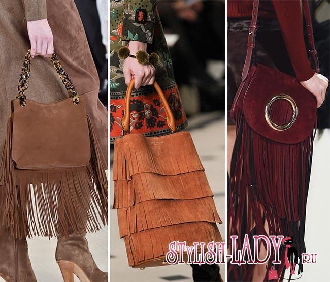 Модные сумки с бахромой осень - зима 2015 - 2016, фото