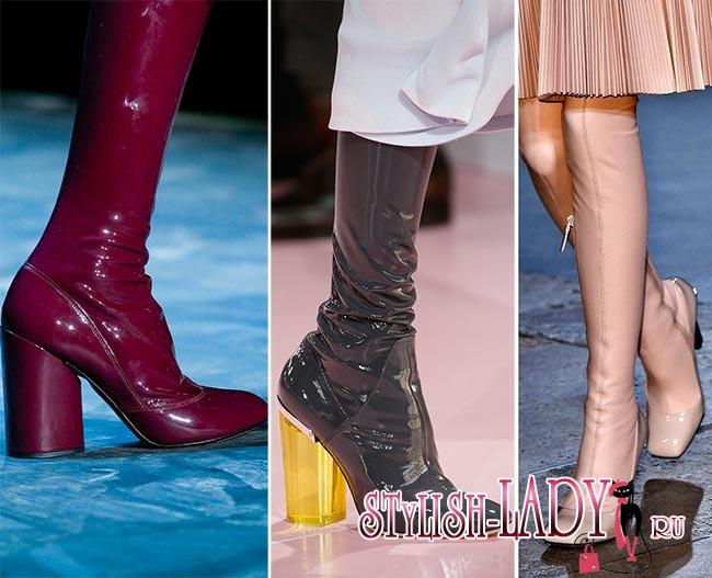 Фото модной обуви из латекса осень - зима 2015 - 2016