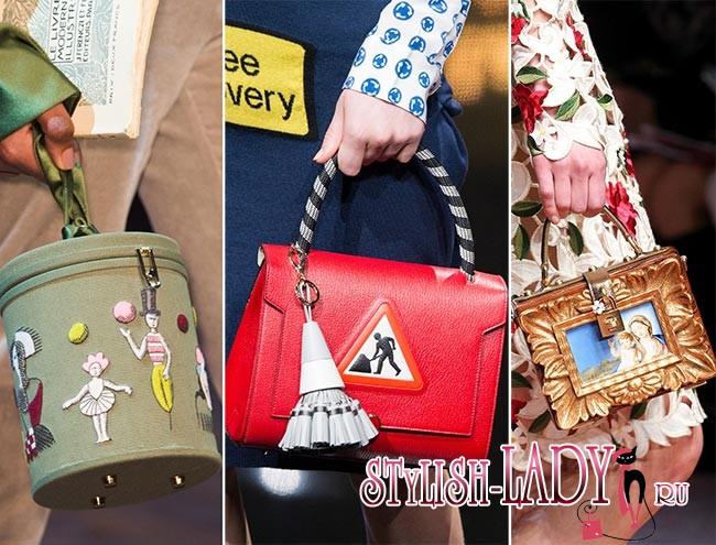 Модные сумки с принтами и графикой осень - зима 2015 - 2016, фото