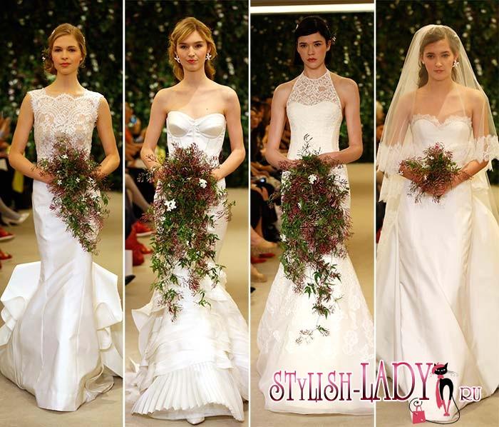 модные свадебные платья весна 2016, фото