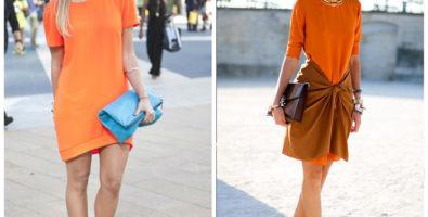 Сочность цвета. С чем носить оранжевое платье или юбку?