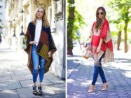 С чем носить модное пончо?