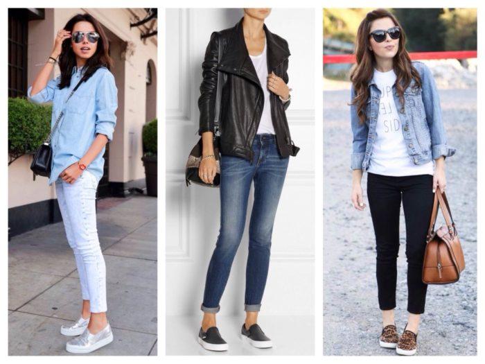 фото девушек в джинсах и обуви