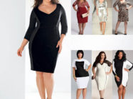 Модные вечерние платья для полных леди