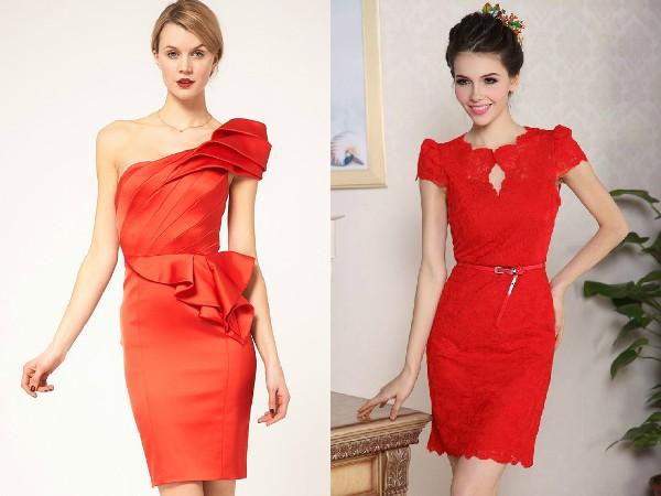 Как сшить красные платье своим руками