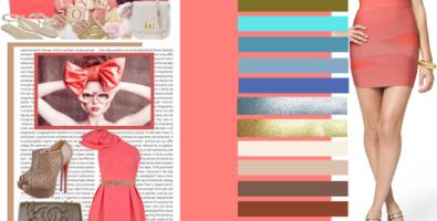 Сочетание цветов: розовый