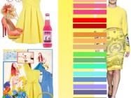 Сочетание цветов: желтый