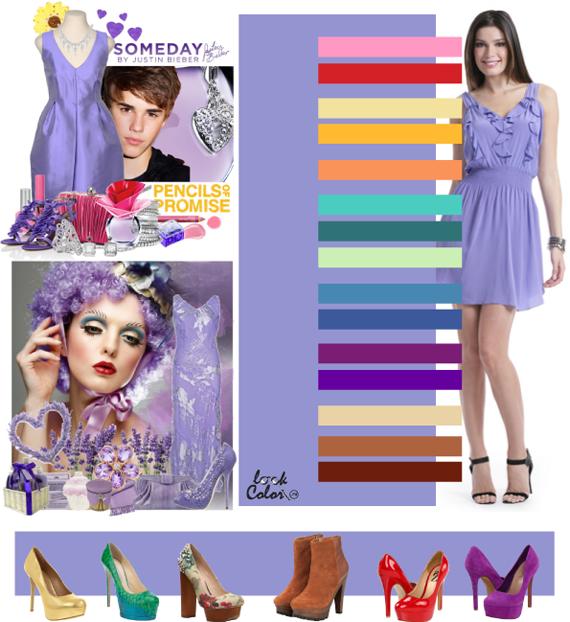 С каким цветом сочетается фиолетовый цвет в одежде