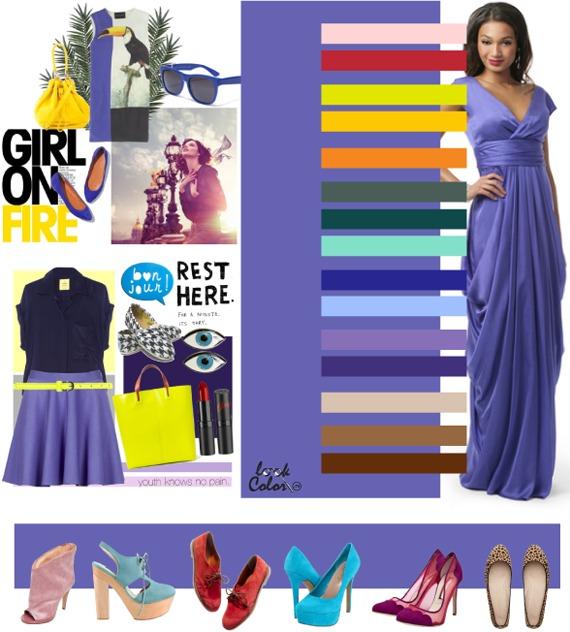 Фиолетовый цвет с чем сочетается в одежде фото