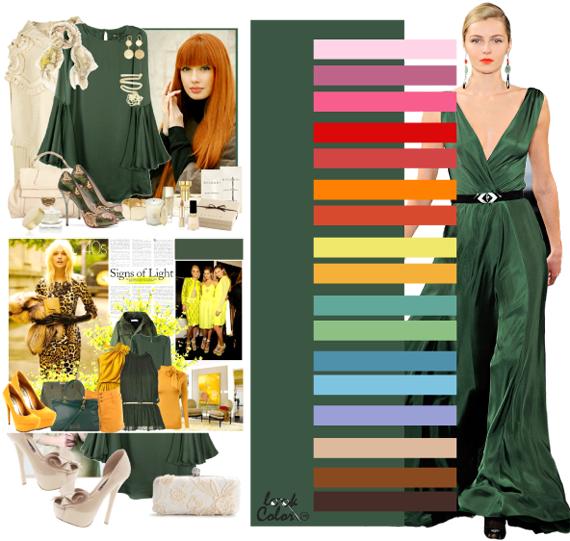 Какие цвета гармонируют с зелёным