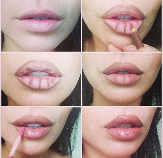 Как на сделать губы больше 43
