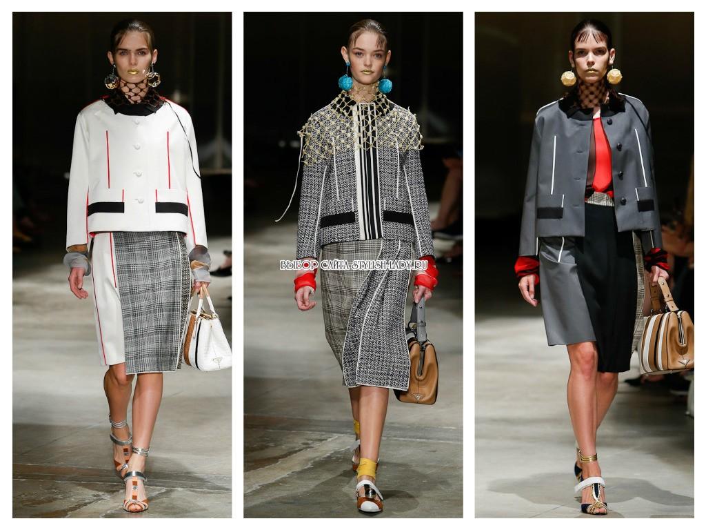 Модные Пиджаки И Юбки В 2017 Году