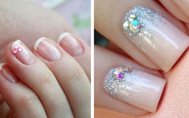 На что клеить блестки для ногтей