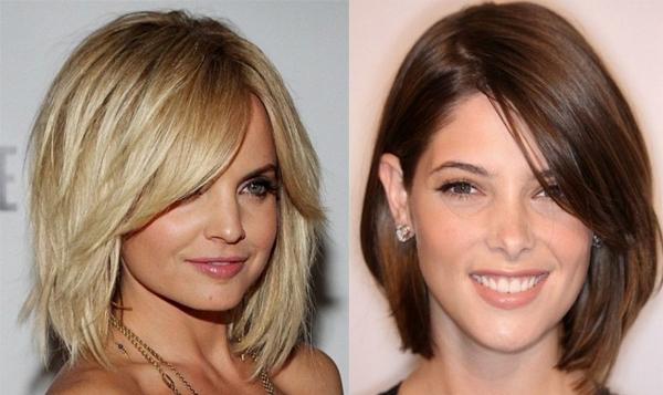 Стрижки на средние волосы без укладки женские
