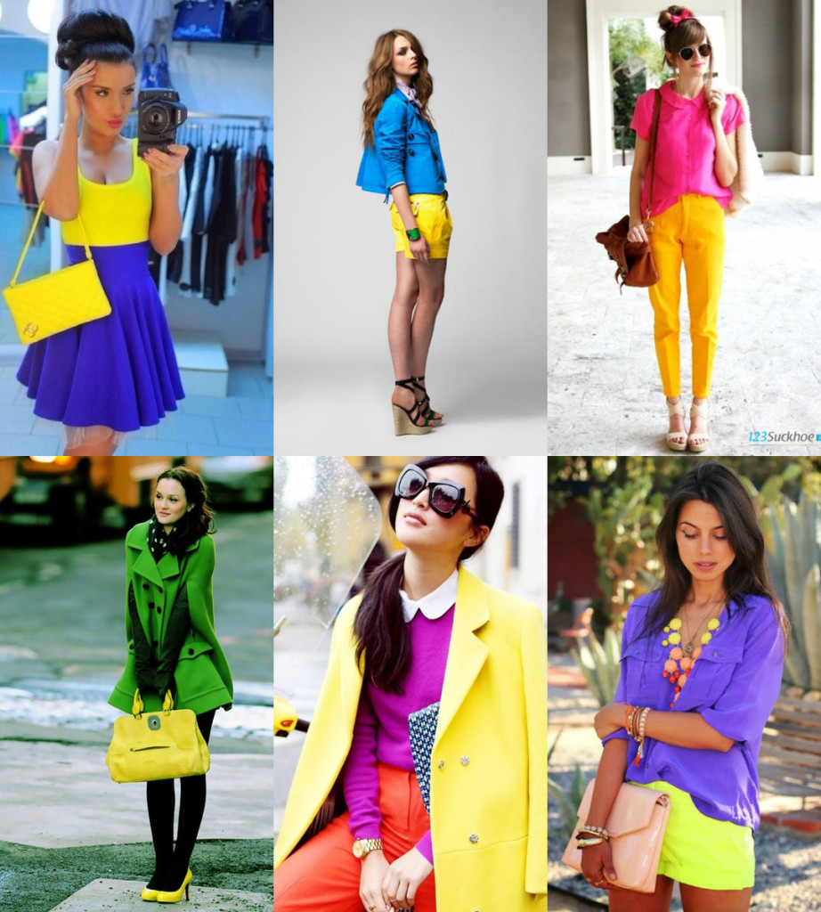 Сочетание желтого и синего цвета
