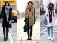 Распространенные способы завязывания шарфа на пальто