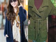 Вязаное пальто в любое время года