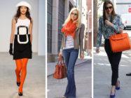 Оранжевая сумка, колготки, шарф: с чем носить, как правильно сочетать?