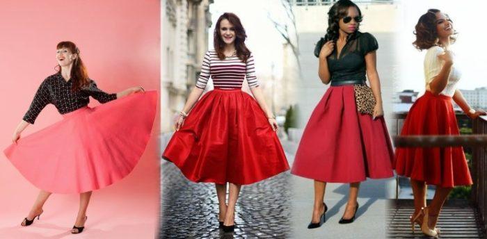 красная юбка - солнце, фото