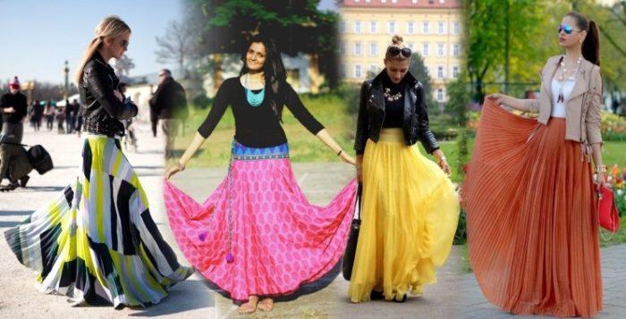 длинная юбка - солнце, фото