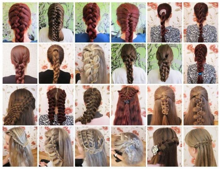 Необычные косы на длинные волосы схемы плетения