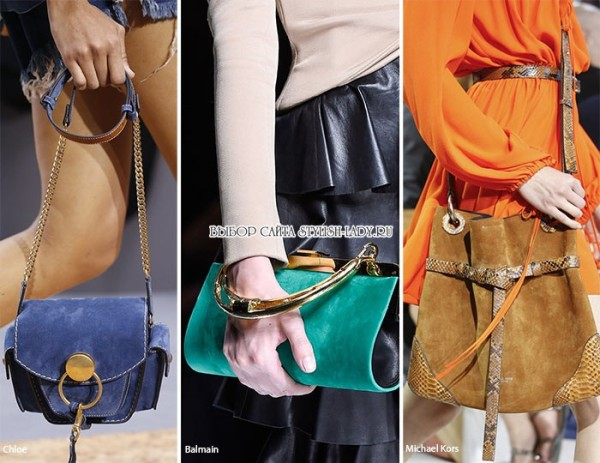 модные замшевые сумки весна - лето 2016, фото