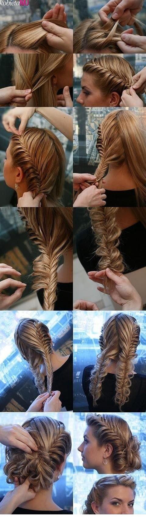Плетение волос своими руками на средние волосы 183