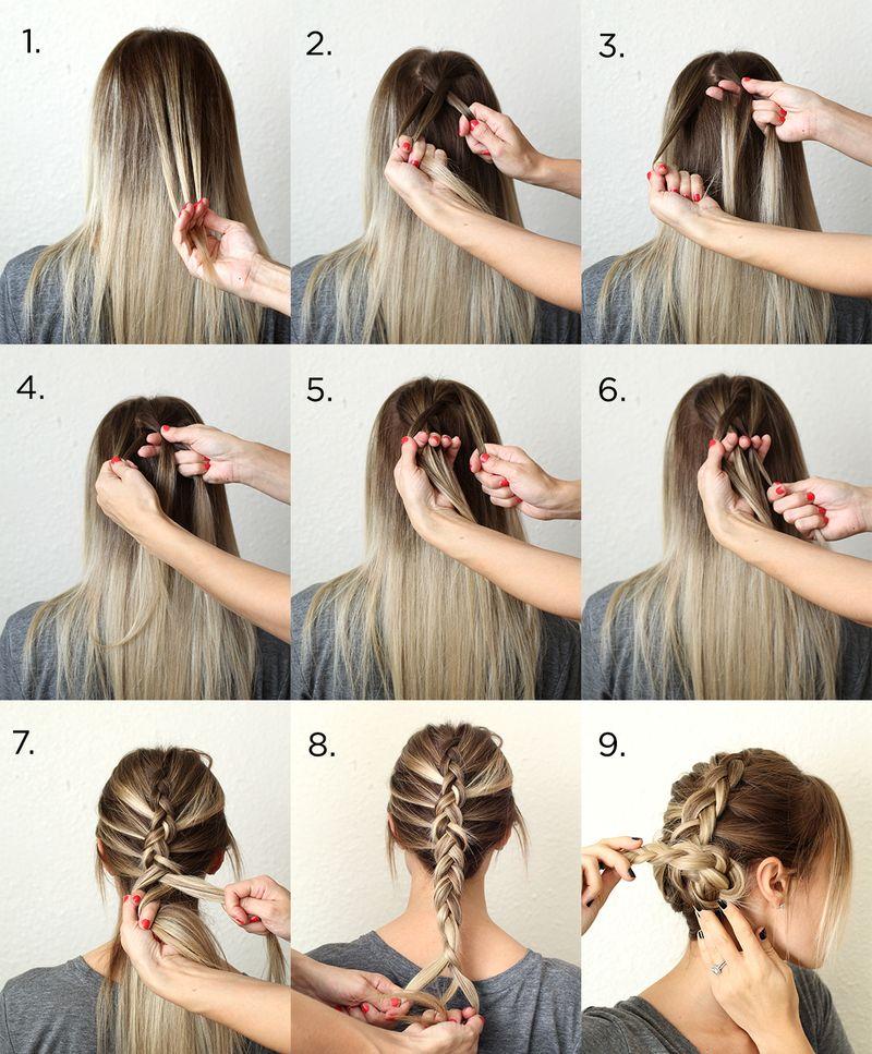 Косички на средние волосы своими руками на каждый день