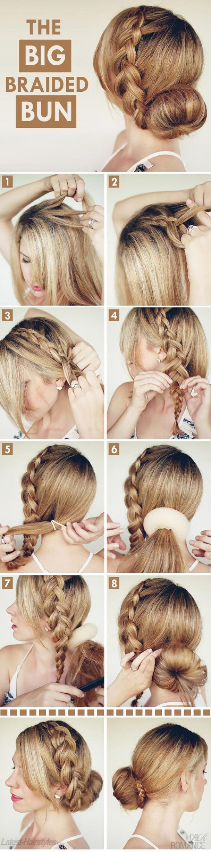 Причёска косы на средние волосы своими руками