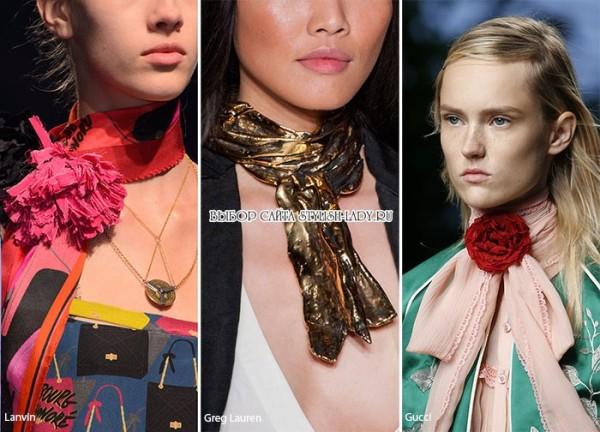 модные шарфы весна 2016, фото