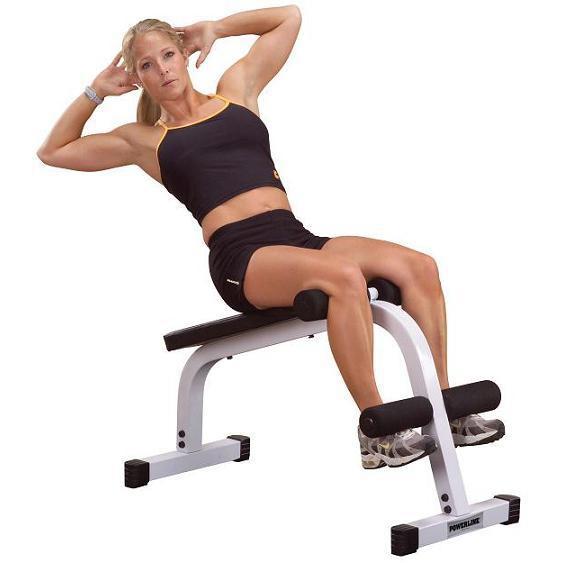 Упражнения на наклонной скамье для талии и живота