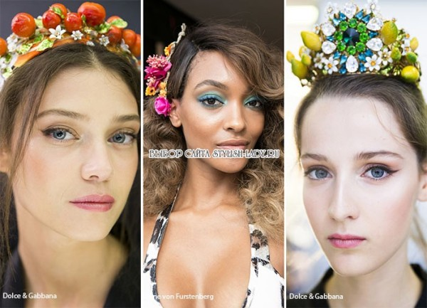 модные аксессуары для волос весна 2016, фото