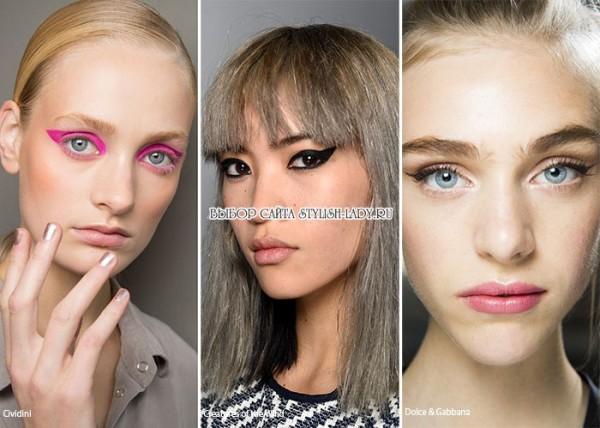 модный макияж со стрелками 2016, фото