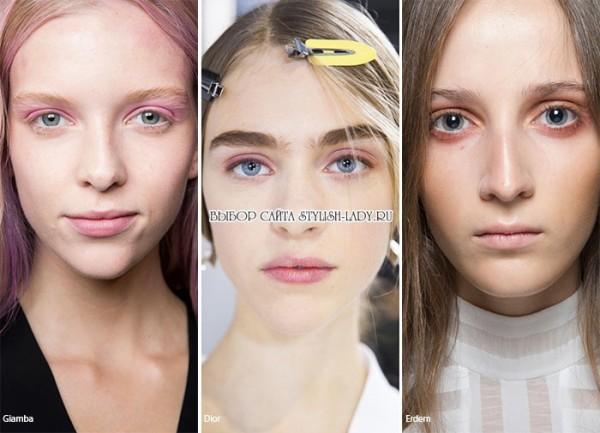 модный розовый макияж 2016, фото