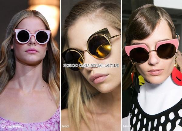 модные круглые очки весна - лето 2016, фото