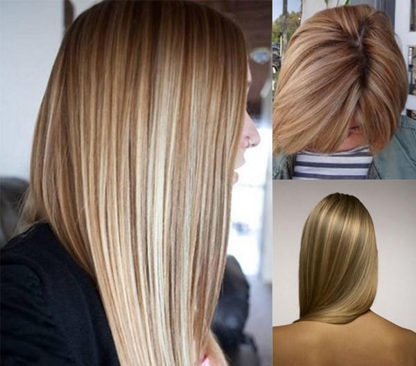 Двойное мелирование фото на русые волосы