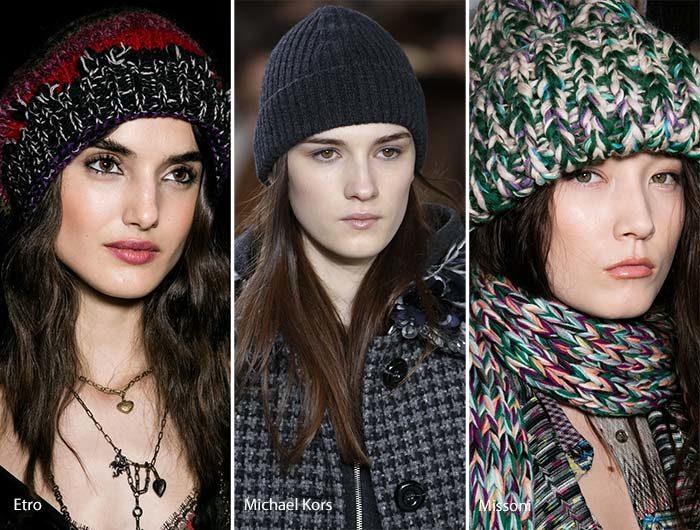 модные головные уборы осень - зима 2016 - 2017, фото