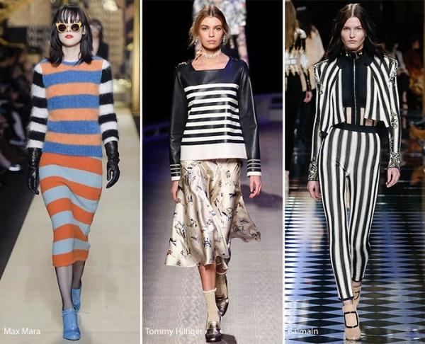 Модные принты осень - зима 2016 - 2017, полоска, фото