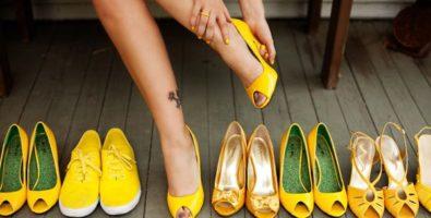 Желтая обувь – весело и стильно. С чем её носить?